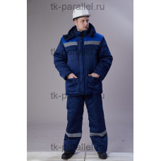 "Костюм ""Вектор бурана"" утеплённый, куртка + полукомбинезон, с СОП"