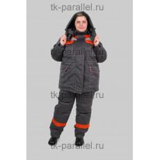 Костюм утеплённый женский, куртка + полукомбинезон, с СОП