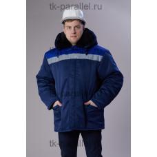 Куртка утеплённая с меховым воротником