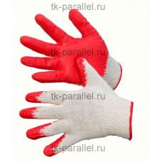 Перчатки х/б с одинарным латексным обливом