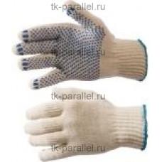 """Перчатки х/б 4-нитка """"эконом"""" с ПВХ (7.5 класс)"""