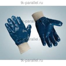 Перчатки нитриловые (полный облив, манжет резинка)